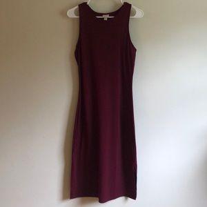 A New Day Maroon Midi Racerback Dress size S